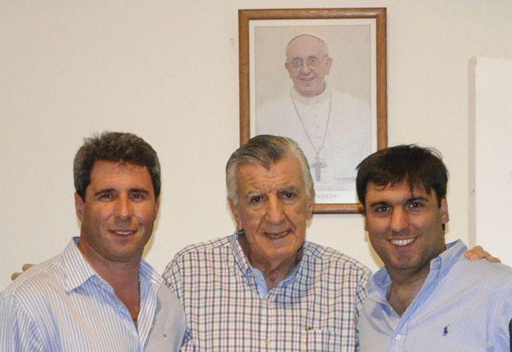 Sergio Uñac, José Luis Gioja y Diego Bossio
