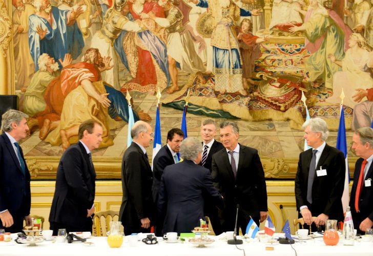 Macri compartió un desayuno con representantes de firmas del Movimiento de Empresas de Francia.
