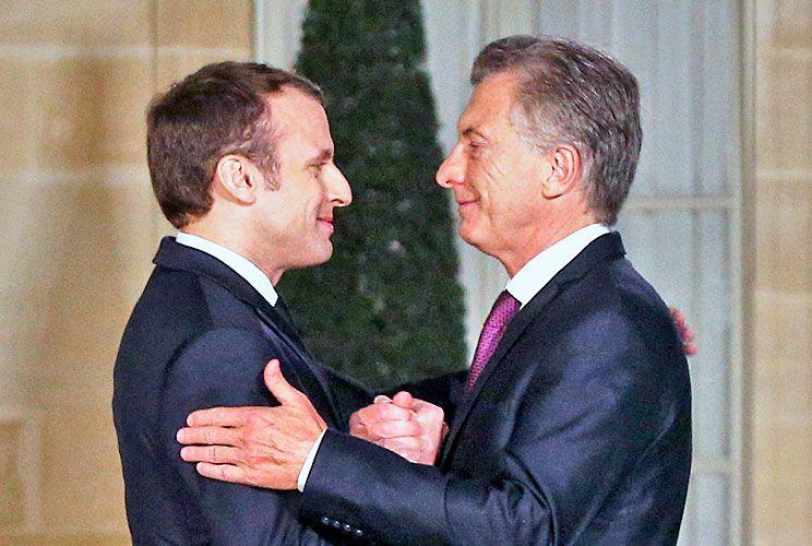 Con Macron. Ayer se encontraron en el Palacio del Elíseo. No hubo resultados concretos sobre el acuerdo UE-Mercosur.