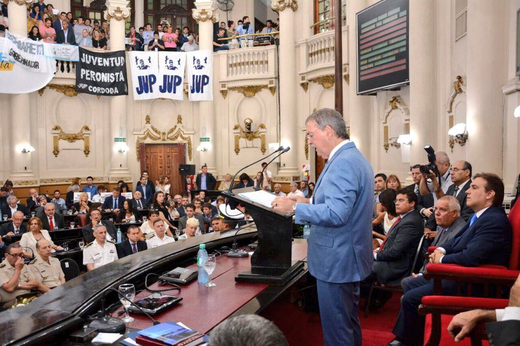 HACE UN AÑO. Schiaretti en la apertura de sesiones en la Unicameral el año pasado.