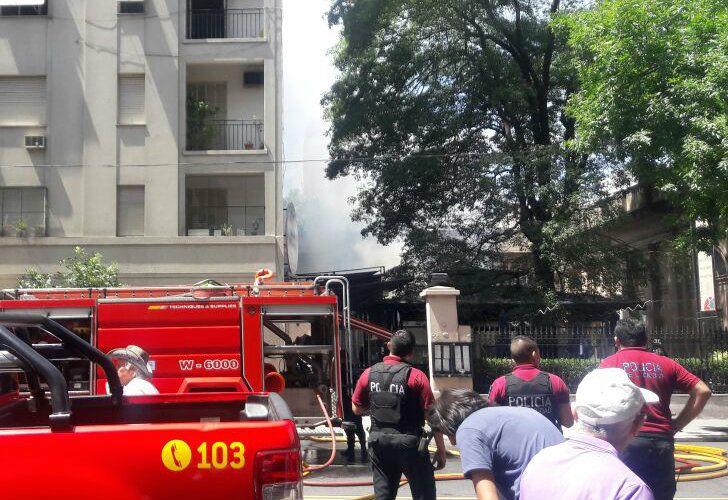Se incendió el restaurante Big Mamma, en Belgrano.