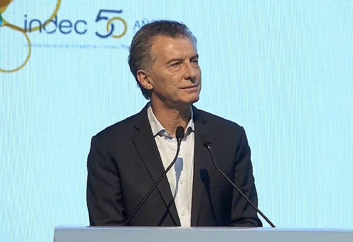 Mauricio Macri habló en el acto conmemorativo por el 50 aniversario de la creación del INDEC.