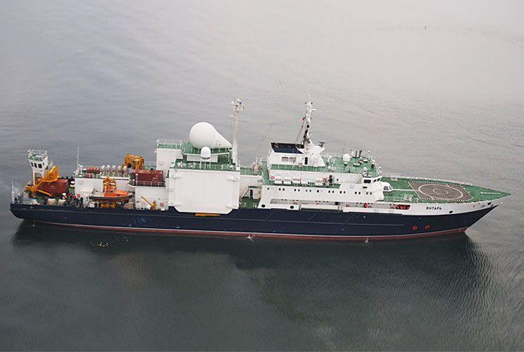 El buque oceonográfico ruso Yantar seguirá con la cooperación al menos hasta marzo.