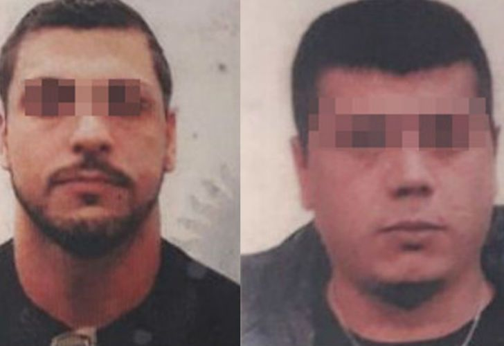 Lucas Martiniano García (izq.) y Feliciano Rondan (der.), detenidos por el ataque motochorro.