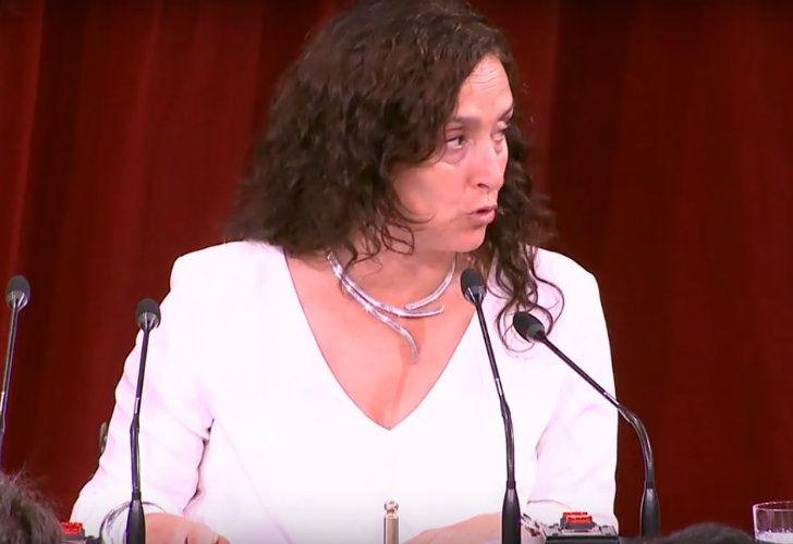 La vicepresidenta Gabriela Michetti en la apertura de sesiones legislativas.