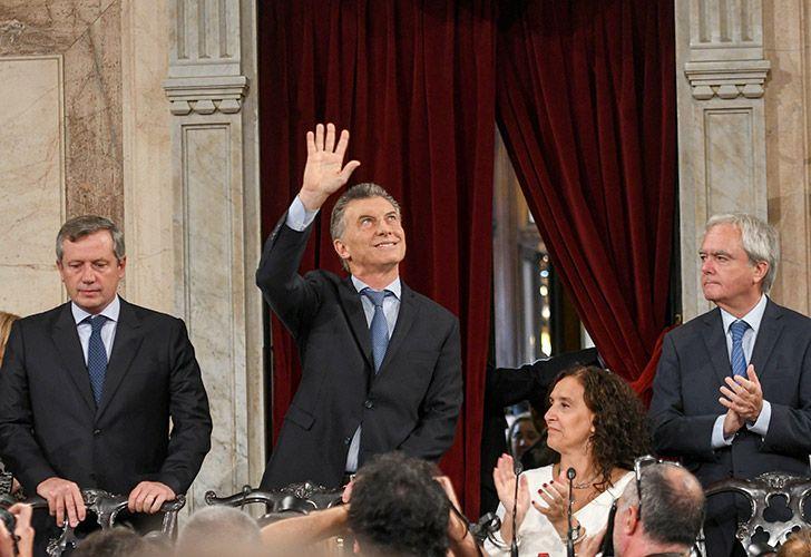 El presidente Mauricio Macri y la vicepresidenta Gabriela Michetti en el acto de apertura del 136 período de sesiones ordinarias del Congreso.