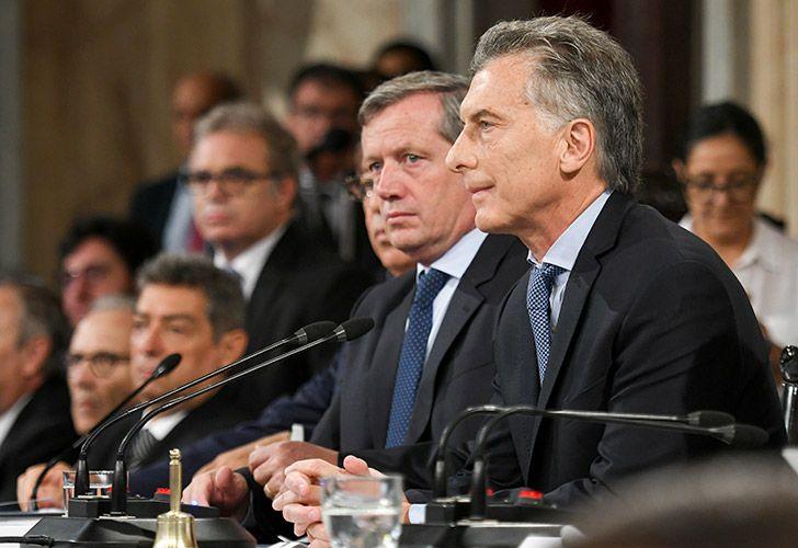 El presidente Mauricio Macri llegó al Congreso minutos antes de las 11.