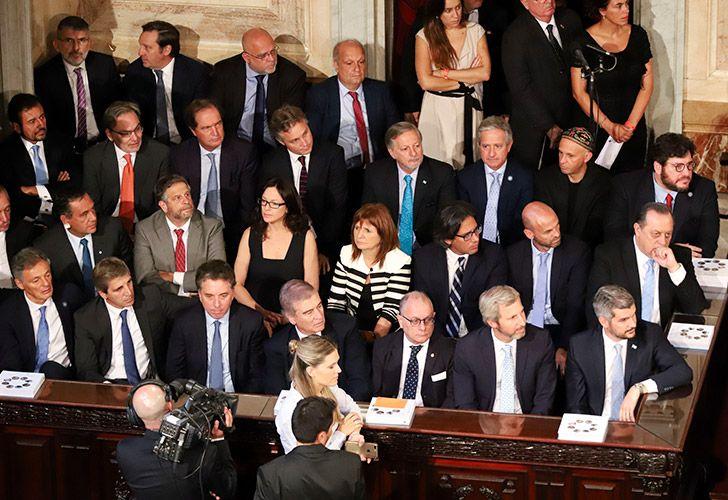 Funcionarios de Cambiemos en la apertura de la Asamblea Legislativa.
