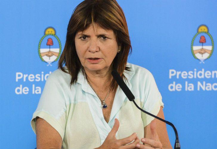 La ministra de Seguridad, Patricia Bullrich, dijo que el Gobierno