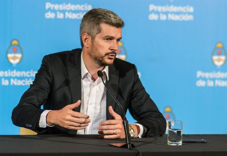 El jefe de Gabinete, Marcos Peña, brindó una conferencia de prensa y se refirió al titular de la AFI, Gustavo Arribas.
