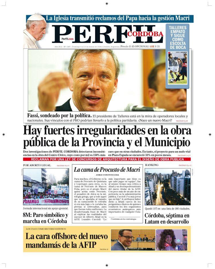 Los principales temas de la edición Córdoba de Perfil