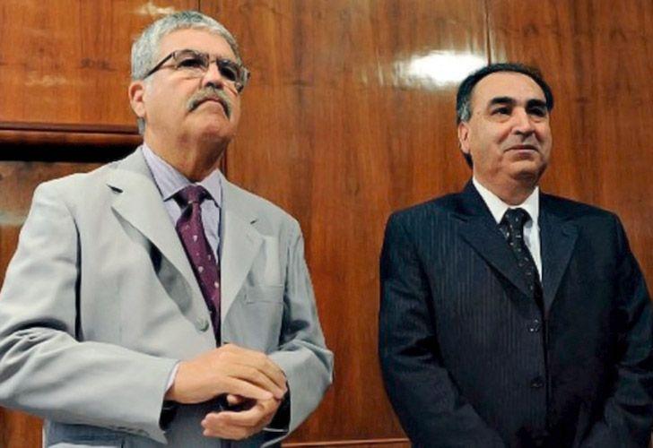 Julio De Vido junto al intendente de Río Turbio, Atanasio Pérez Osuna.