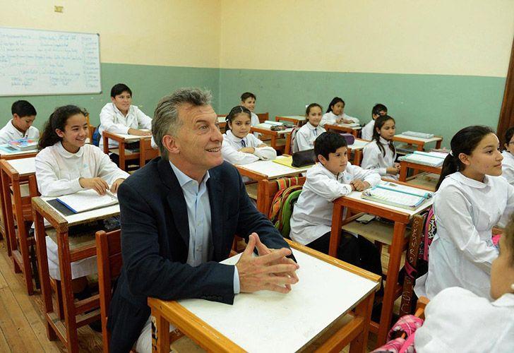 Macri cuestionó a la educación en pleno paro docente.