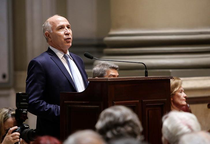 El presidente de la Corte Suprema de la Nación, Ricardo Lorenzetti, encabeza el acto de apertura del año judicial