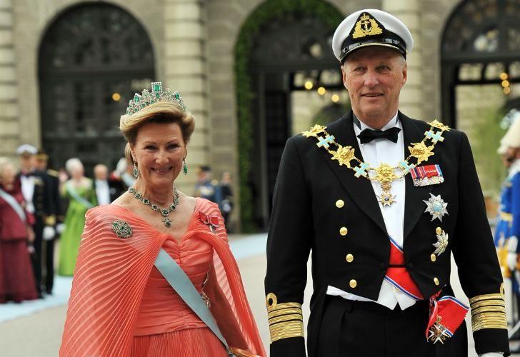 Harald V y Sonia, reyes de Noruega