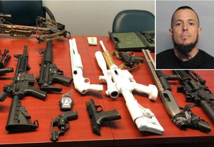Al argentino detenido en Miami le encontraron un arsenal de armas en su casa.