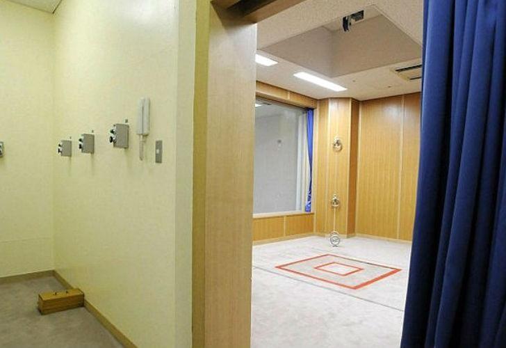 Sala de ejecuciones en Japón