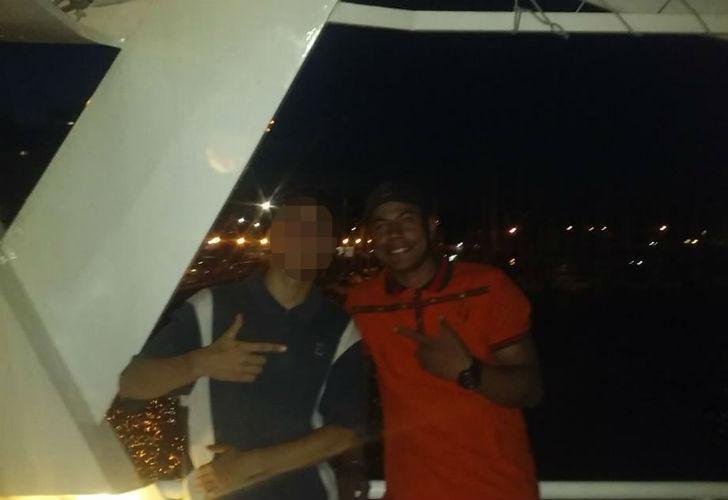 Una de las últimas fotos de Peña en el barco.