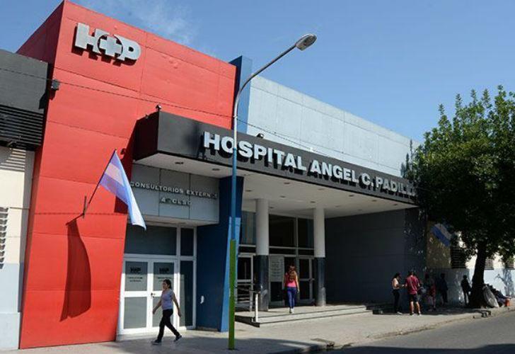 El frente del Hospital Padilla, a donde fue trasladado el menor de 11 años Facundo Burgos, quien murió allí.