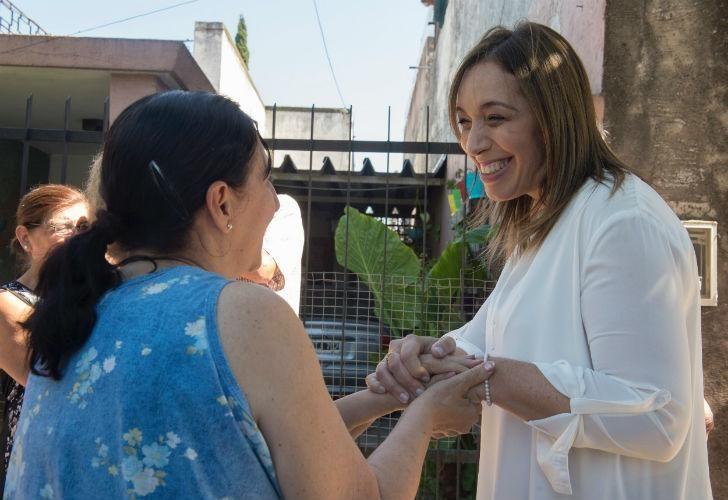 La gobernadora bonaerense, María Eugenia Vidal, participa del primer timbreo del 2018.