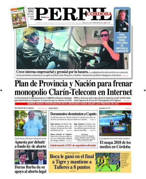 Los temas de la edición Córdoba de Perfil.