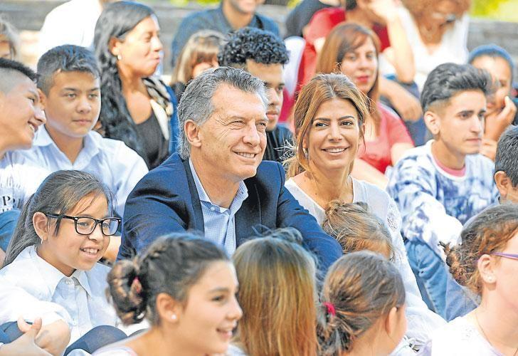 Con Awada. Macri encabezó el lanzamiento del Plan Nacional de Orquestas Infantiles y Juveniles.
