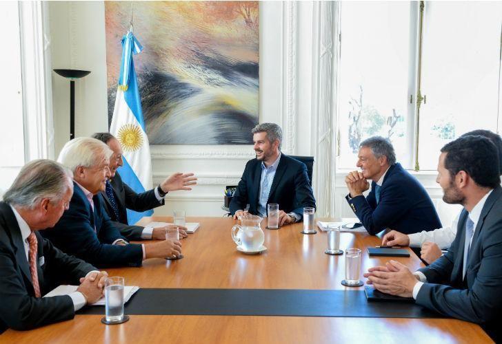 El Gobierno hizo las paces con la UIA, en la Casa Rosada.