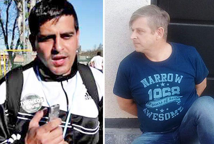 A la cárcel. Juan Manuel Díaz Vallone se entregó en la fiscalía, acompañado por su abogado. Alejandro Dal Cin fue capturado ayer en Sarandí.