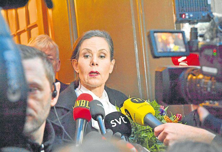 Suecia. Danius renunció a la Academia Sueca de Literatura por escándalo de abusos.
