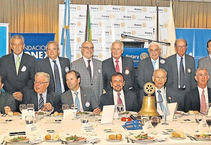 """Coincidencia. Mario Quintana y su hermano Pablo compartieron el último almuerzo del Rotary Club de Buenos Aires. """"No hablamos de política"""", asegura Pablo."""