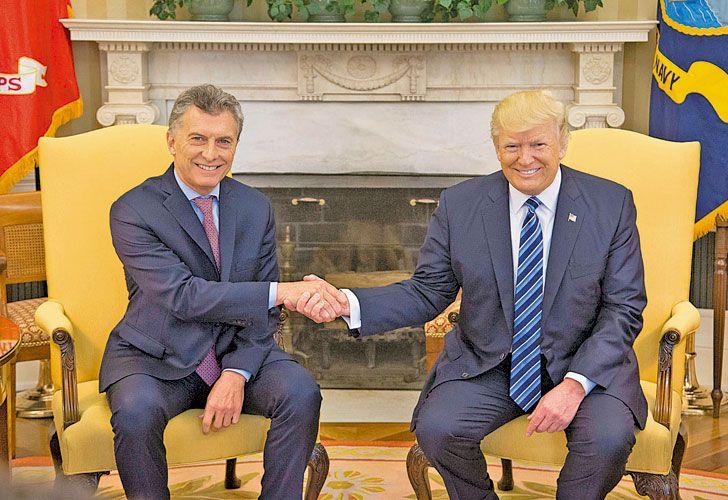 Sintonia. El presidente argentino declaró en línea con EE.UU.