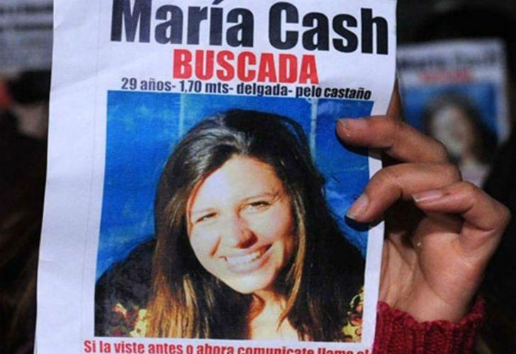 María Cash es buscada desde 2011. Al momento de su desaparición tenía 29 años.