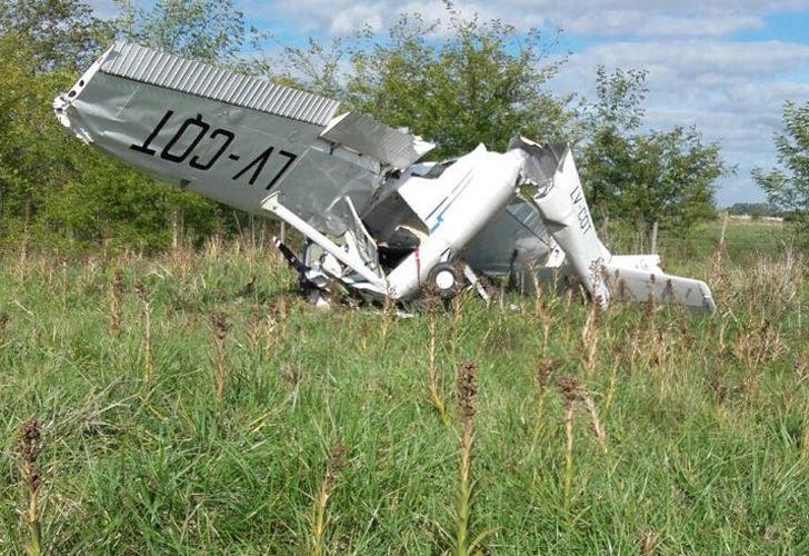 Así quedó la avioneta LV-CQT