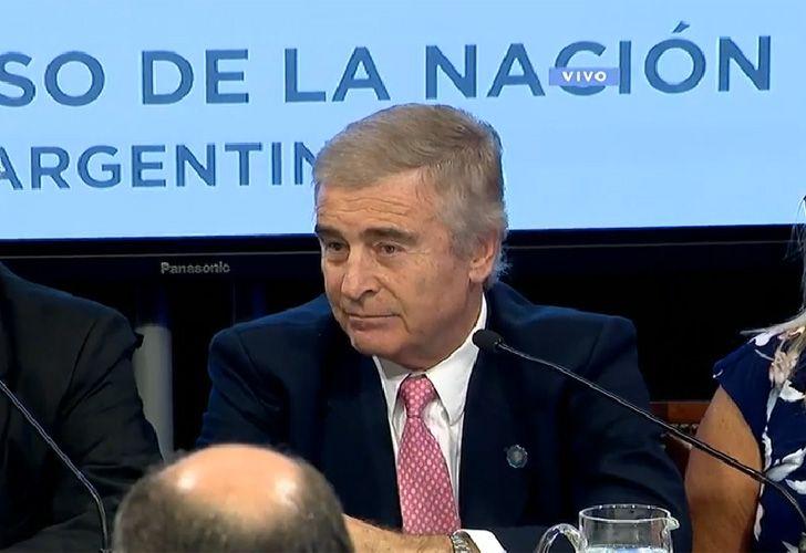 Oscar Aguad, ministro de Defensa, en el Congreso
