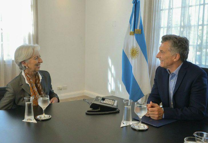 Imagen de archivo. El presidente Mauricio Macri junto con Christine Lagarde, titular del FMI.