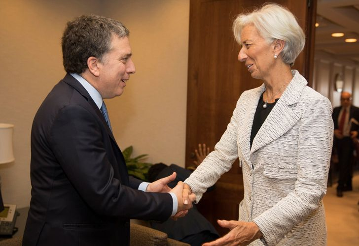 Christine Lagarde con Nicolás Dujovne.