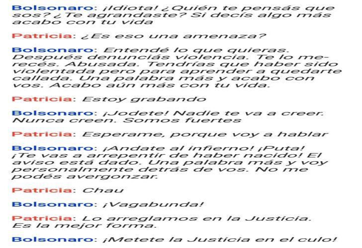 Graves amenazas del hijo de Bolsonaro a una periodista en Brasil.