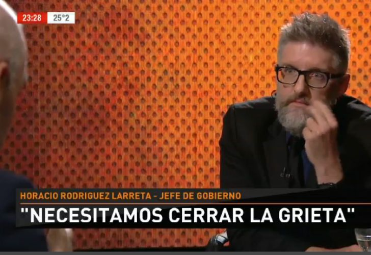 Novaresio con Rodríguez Larreta.