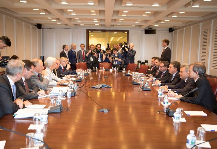 Lagarde y Dujovne mantuvieron este jueve una reunión en la sede del FMI en Washington.