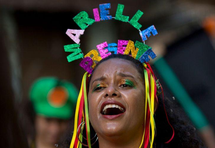 Marielle present at Rio Carnival