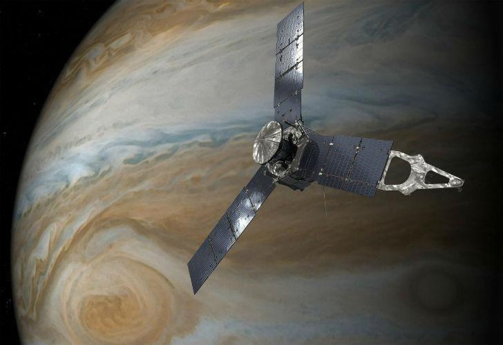 """Hallan ciclones gigantescos y de bandas de gas ern Júpiter"""""""