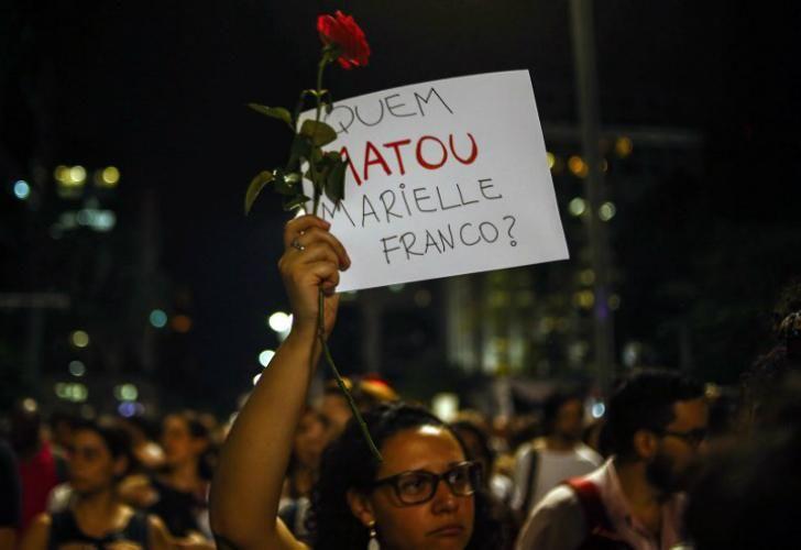 Una multitudinaria marcha protestó por el asesinato de la política Marielle Franco