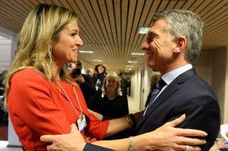 Máxima fue recibida por el presidente Macri.