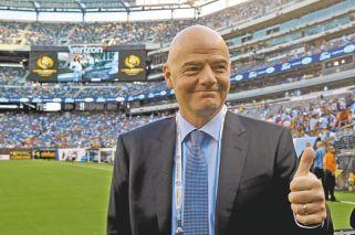 El lider. Gianni Infantino, presidente de la FIFA. Argentina lo está cansando.