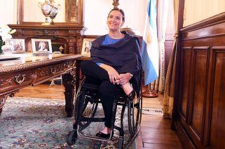 Vicepresidenta. En su despacho del primer piso de la Casa Rosada atendió a PERFIL.