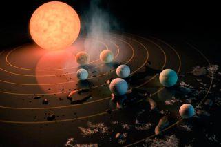 Descubren un sistema solar con siete planetas como la Tierra