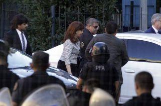 Llegada de Cristina Kirchner