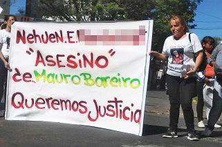 Reclamo. María del Carmen Granizo encabezó un pedido de justicia en los tribunales de Morón.