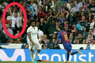 Un hincha del Real Madrid festejó el gol decisivo de Messi