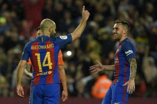 Día histórico: Mascherano marcó su primer gol en Barcelona